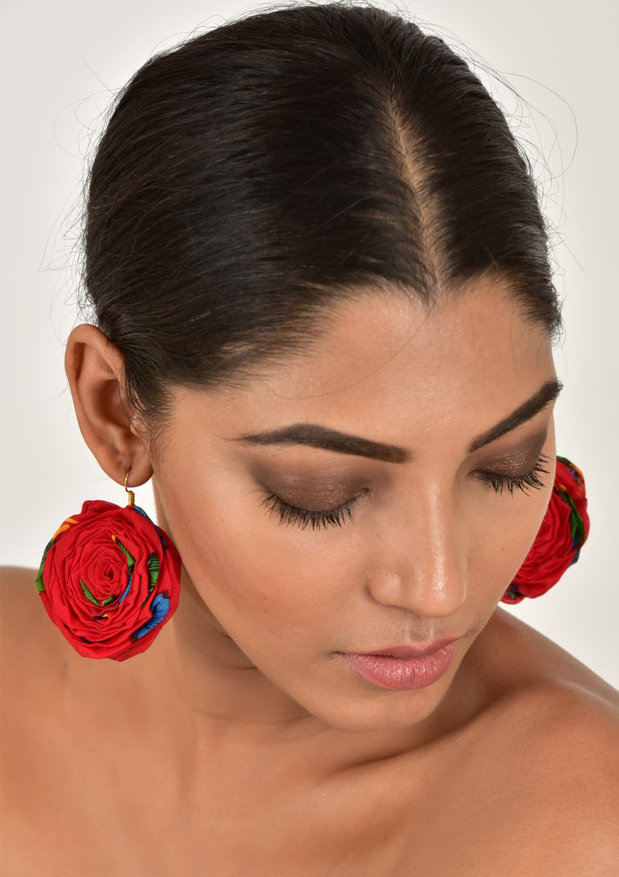 Gulabo Handmade Textile Earrings