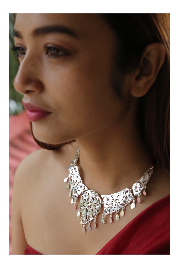 Seeta Handmade Silver Necklace
