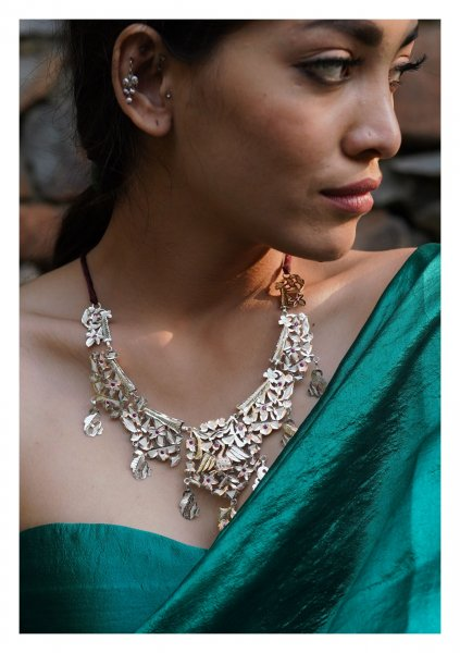 Janaki Handmade Silver Necklace