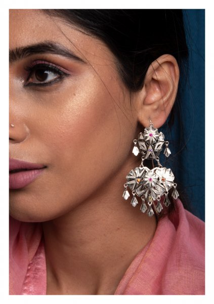 Salma Handmade Silver Earrings