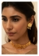 Daasi Gold tone Silver Choker and Earrings Set