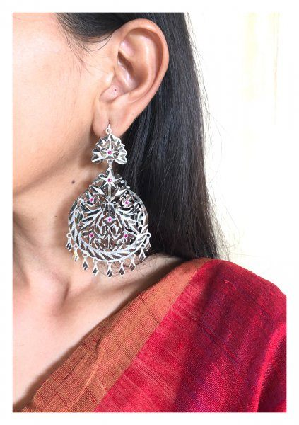 Naseera Handmade Silver Earrings