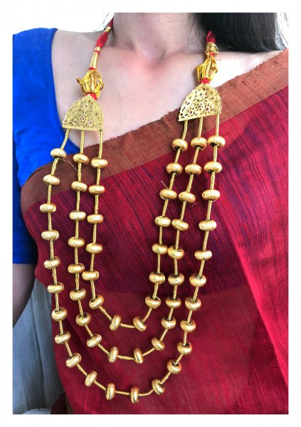 Hoi Dana Gold Tone Silver Necklace