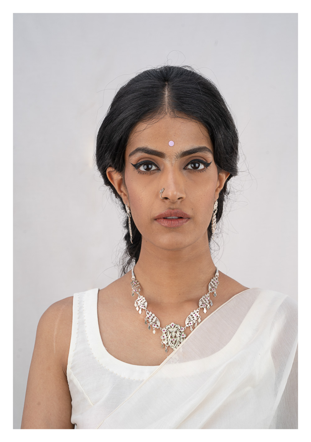 Kashti Silver Necklace & Earrings Set