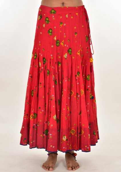 Dumdama Red cotton Skirt