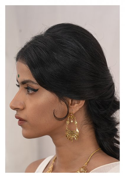 Leela Gold Tone Silver Earrings