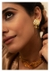 Daasi Gold tone Silver Necklace & Earring Set