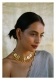 Madhumalti Handmade Gold Tone Silver Necklace