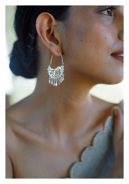 Bansi Handmade Silver Earrings