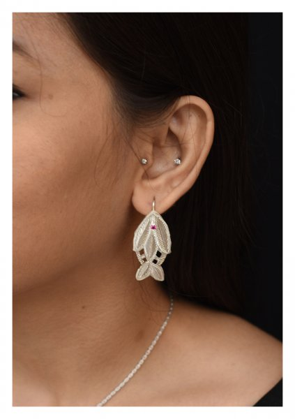 Machli Handmade Silver Earrings