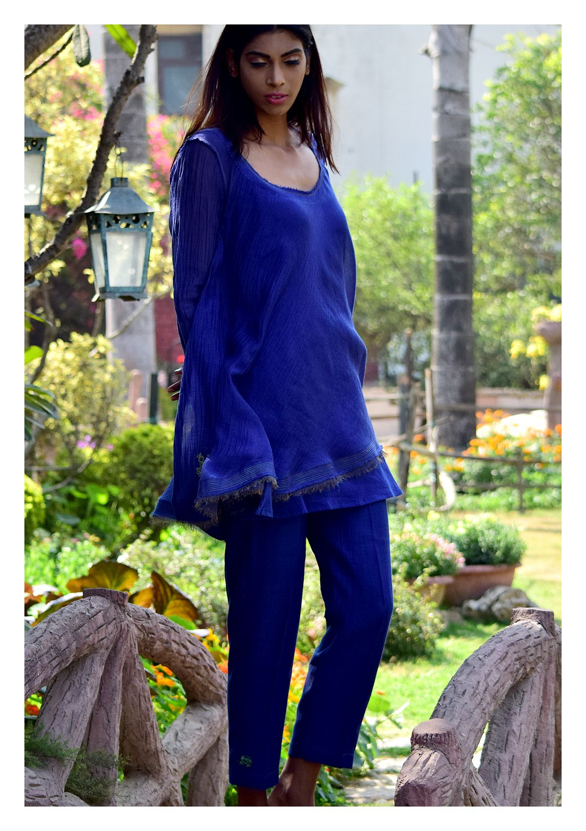 Neel A line Blouse and Pant set