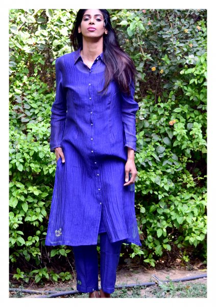 Darby Blue Kurta Pants Set