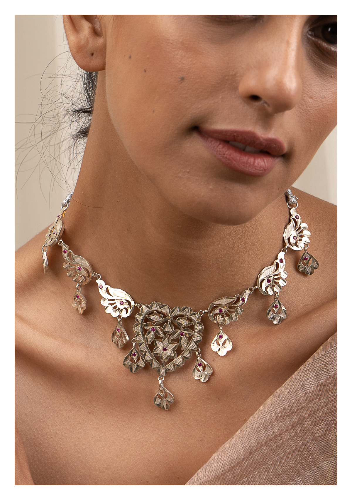 Neema Silver Necklace