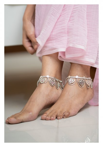 Padmini Silver Anklets