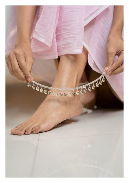 Gauri Silver Anklets