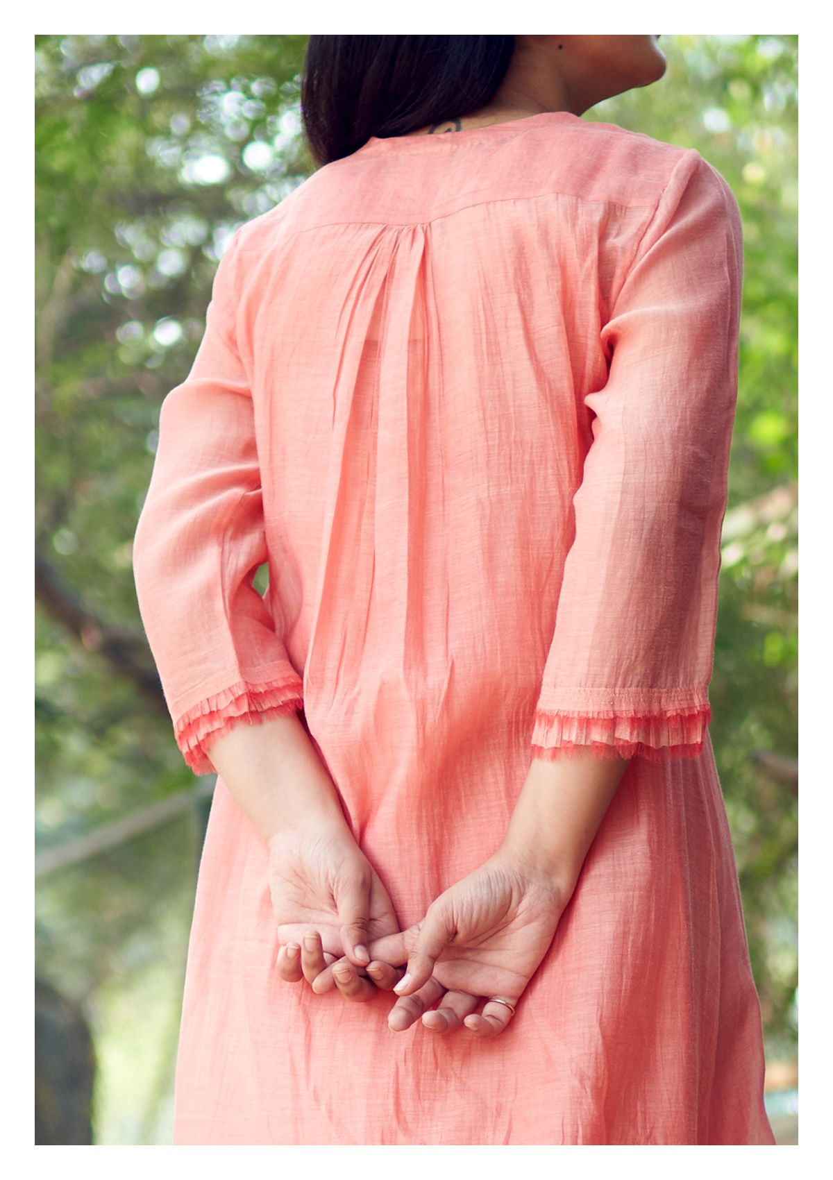 Blushed Bae Chanderi Dress