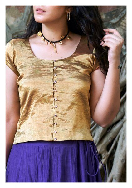 Zaru Gold Tissue Blouse