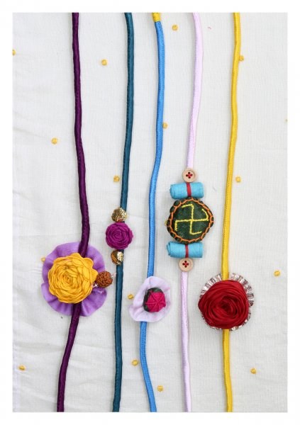 Loved Handmade Rakhis Set of 5