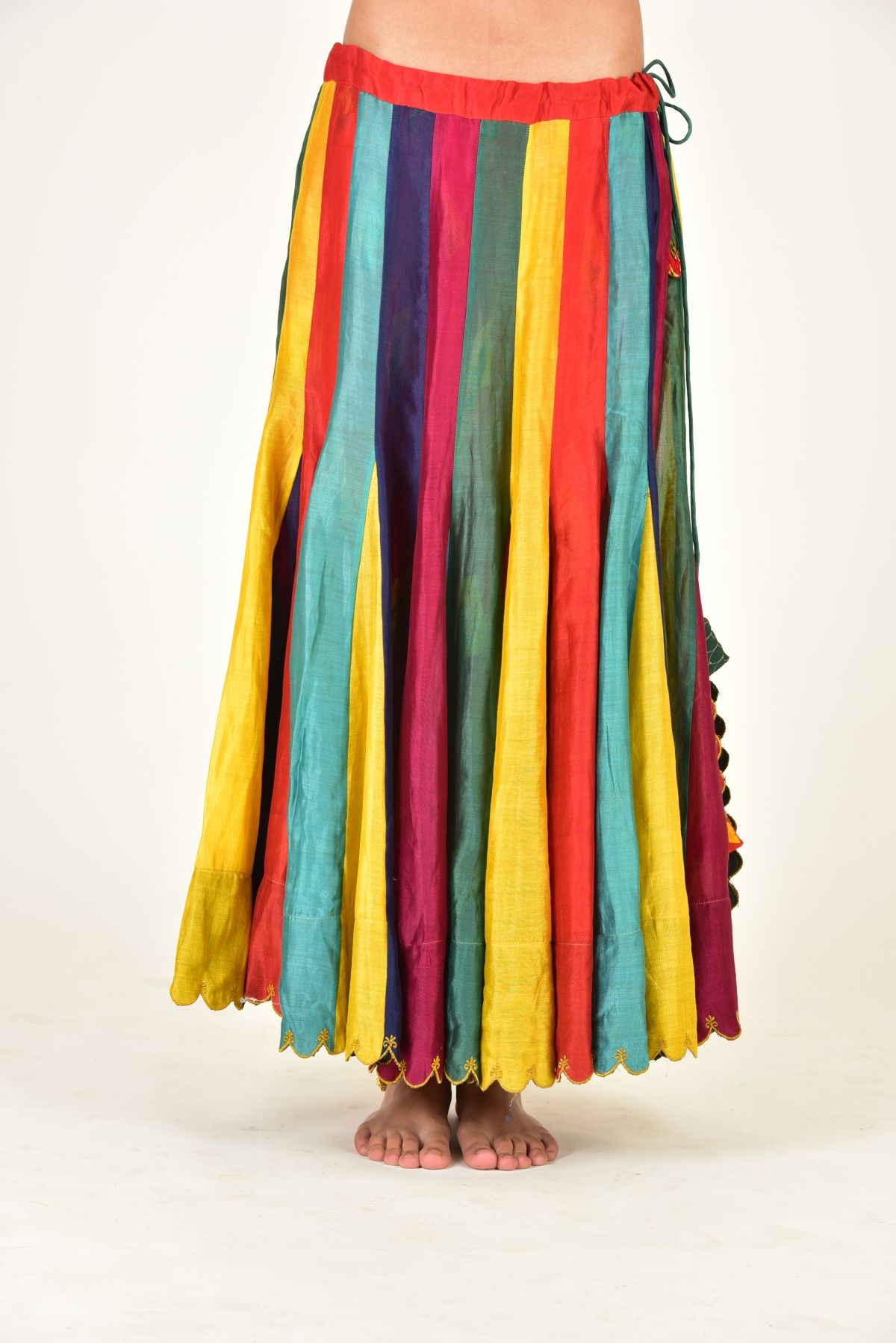 REVATI MULTICOLOR CHANDERI FLARED SKIRT