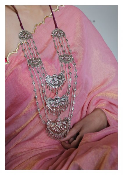 Rahida Handmade Silver Necklace