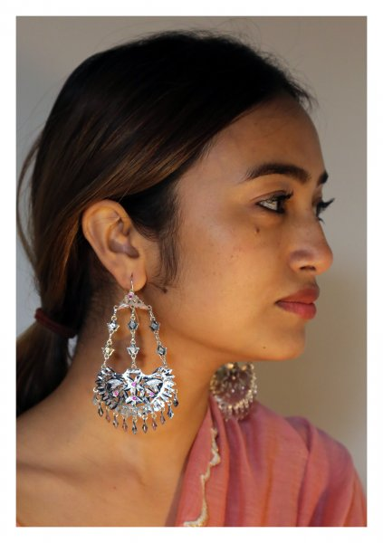 Rukhsana Handmade  Silver Earrings