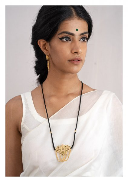Sakina Gold Tone Silver Necklace