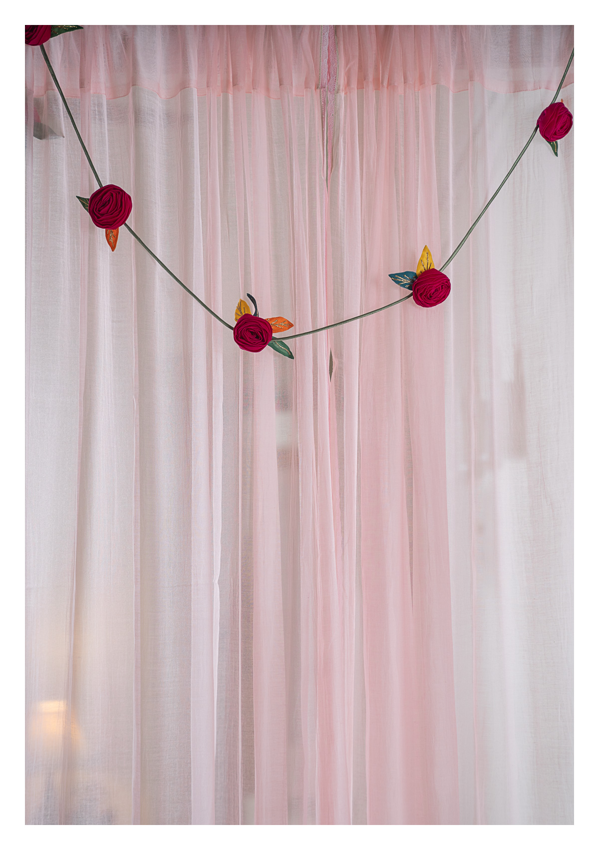 Holly Pink Textile Decor String