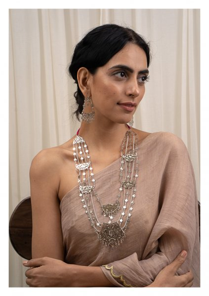 Seeta Silver Necklace