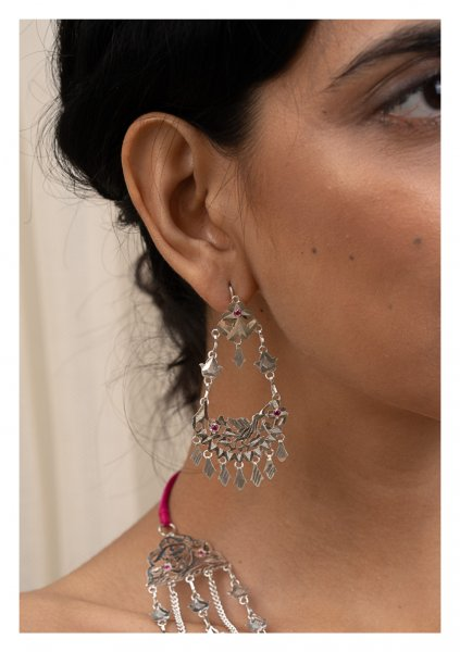 Leela Silver Earrings