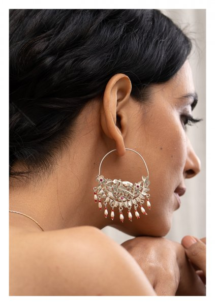 Shamli Silver Earrings