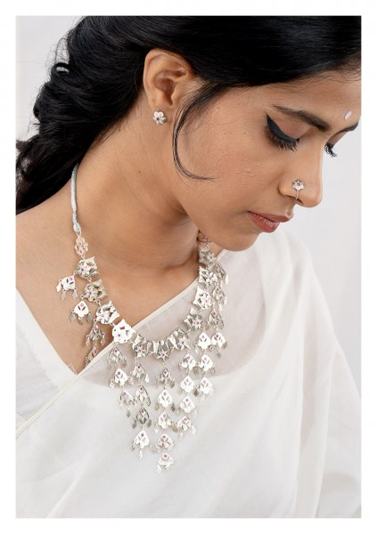 Sharbano Silver Necklace