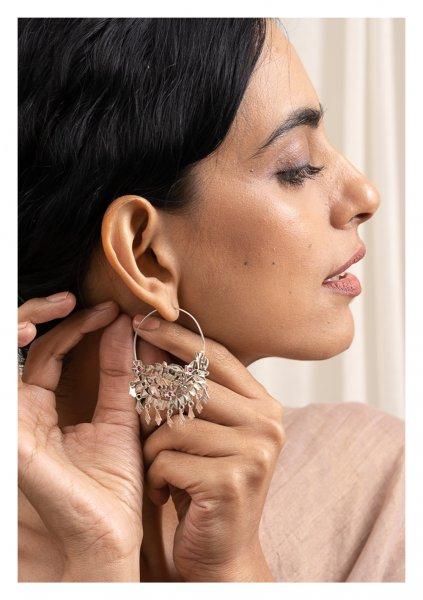 Sharmila Silver Earrings