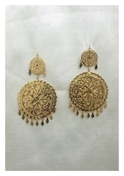 Shereen Gold Tone Silver Earrings