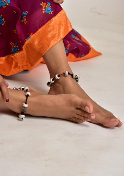 Sita Silver Anklets