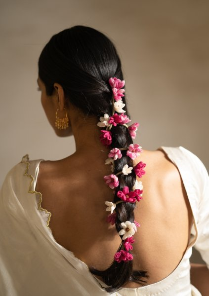 Sitar Pink Flower Hair Accessory