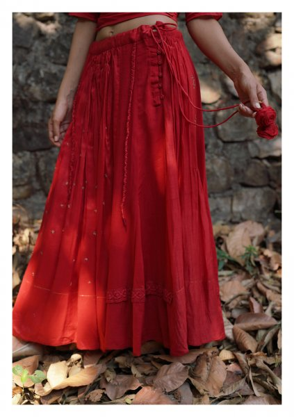 Canna Red Skirt