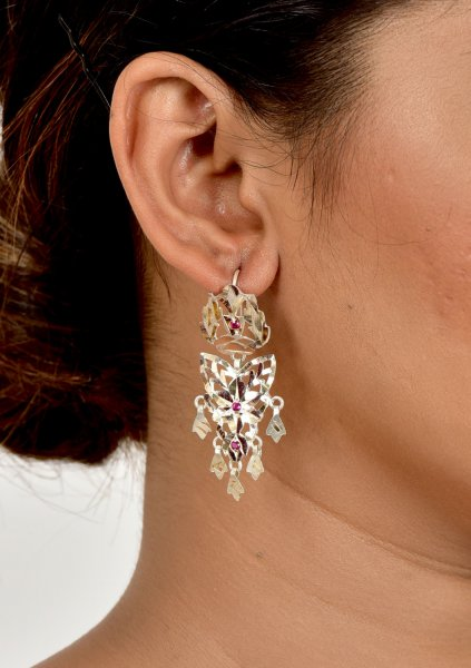 Titli Handmade Silver Earrings