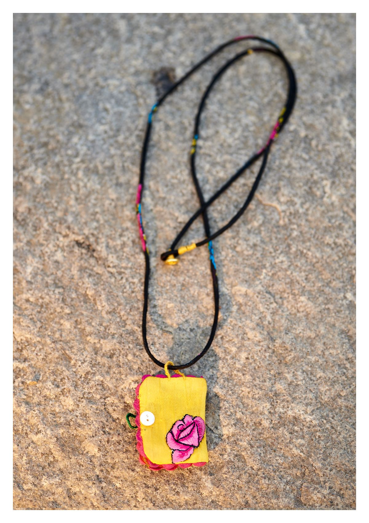 Today I am Handmade Textile Necklace