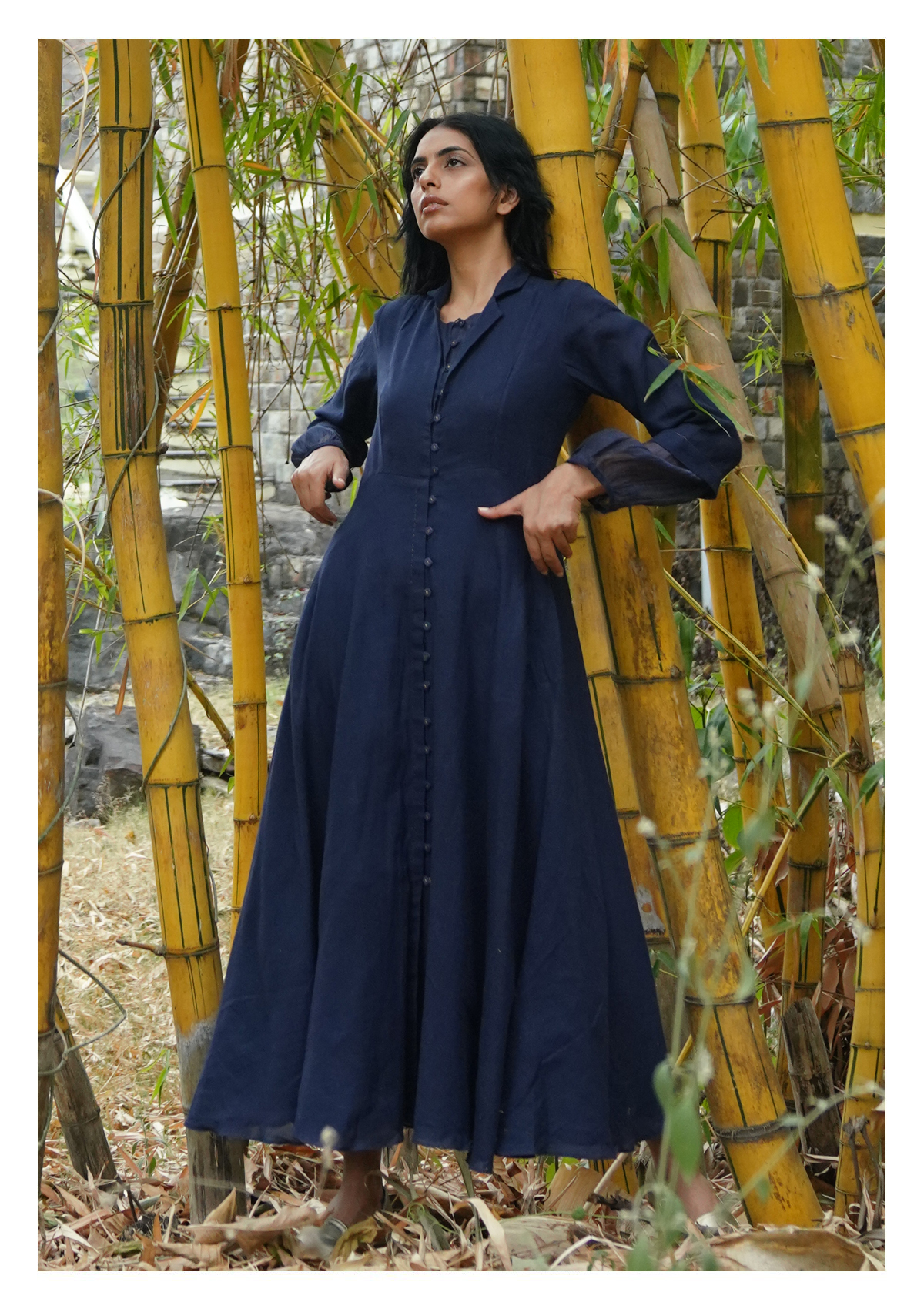 Hiba Blue Cotton Dress