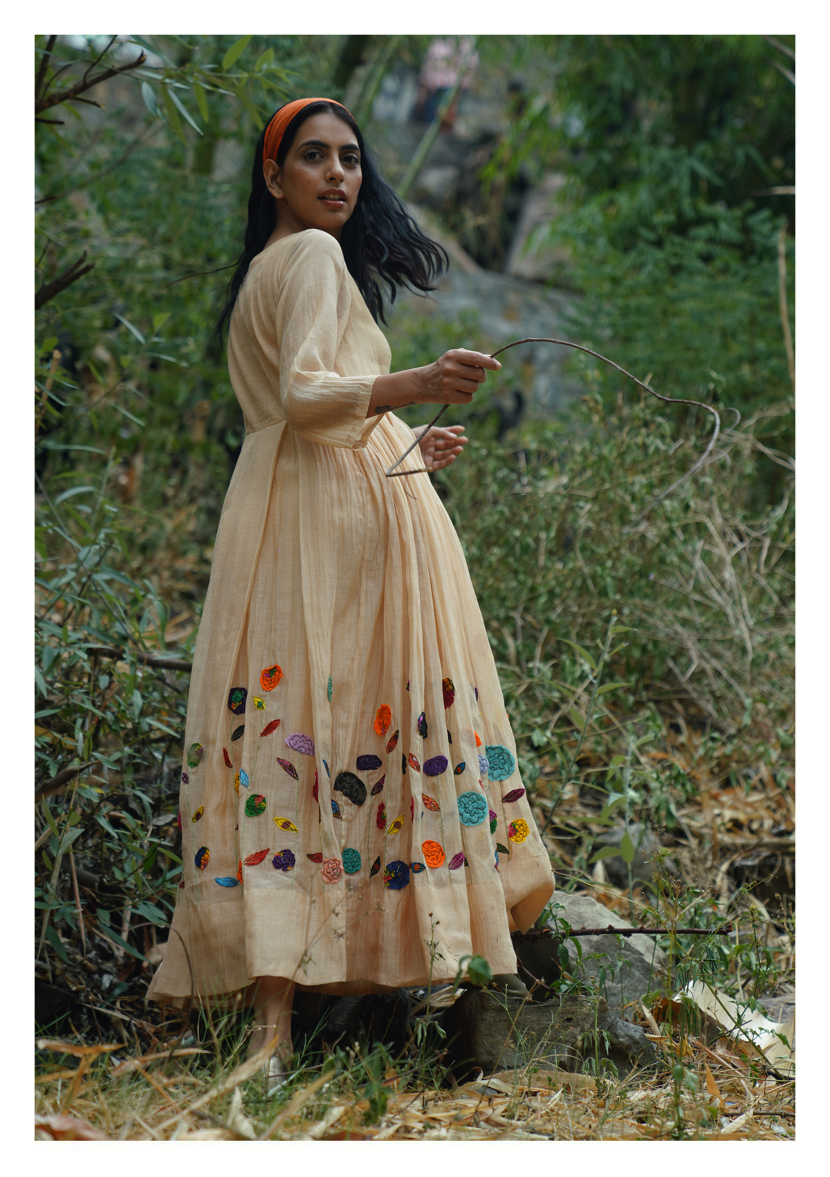 Lawn Butter Chanderi Dress