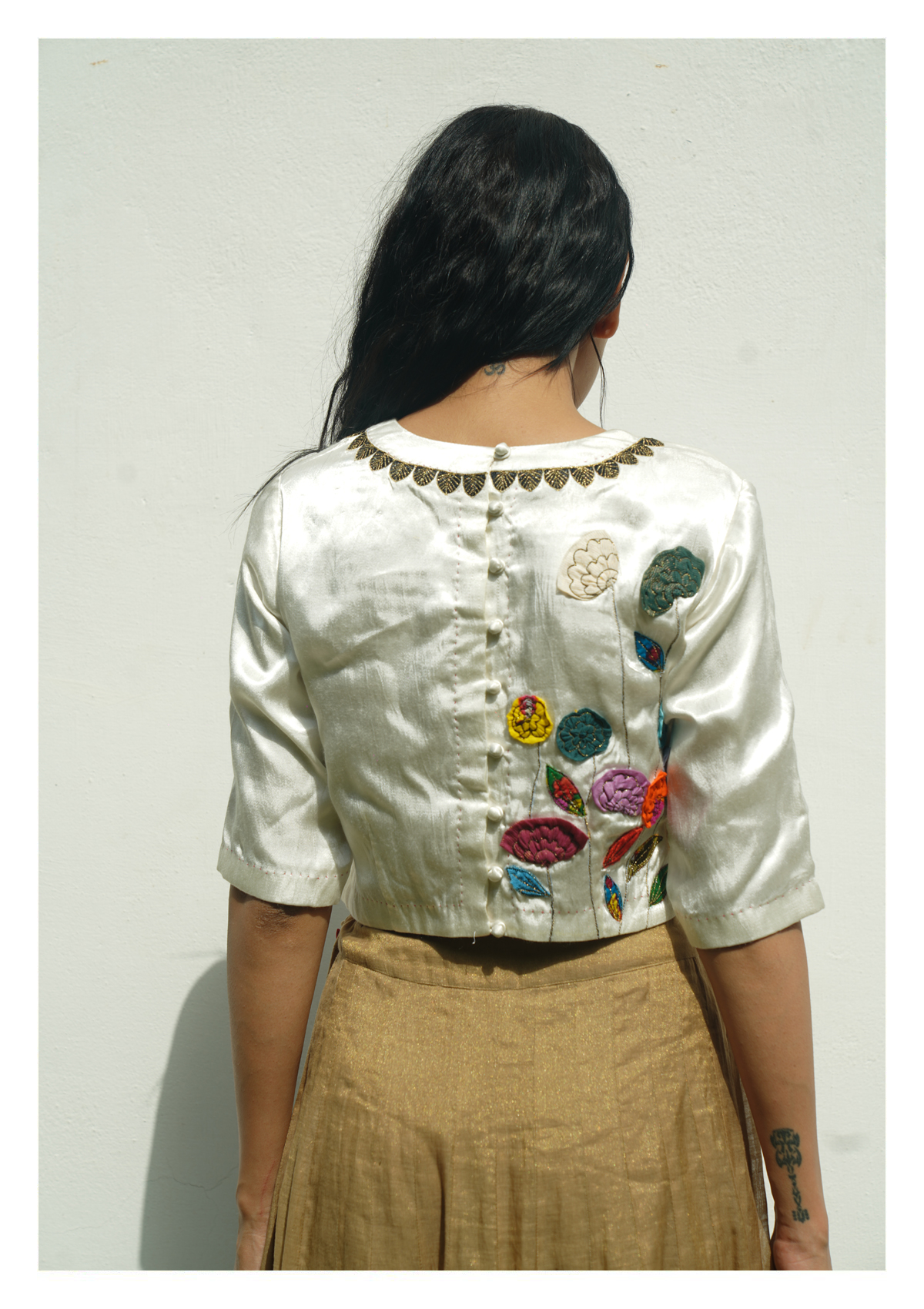 Wild Earth Mashru Silk Blouse
