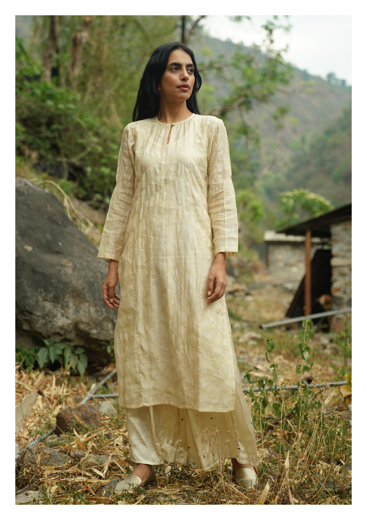 White Elm Kurta Pants Set