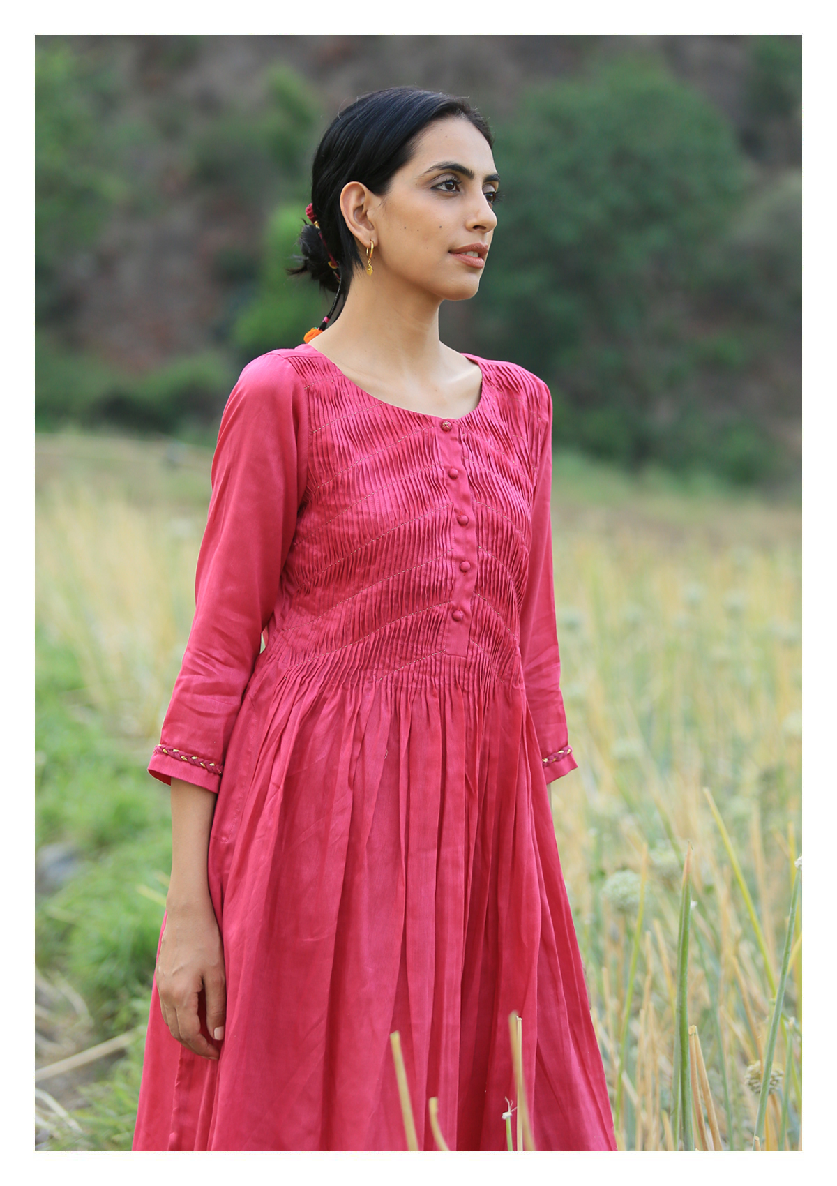 Poem Magenta Kurta pants Set