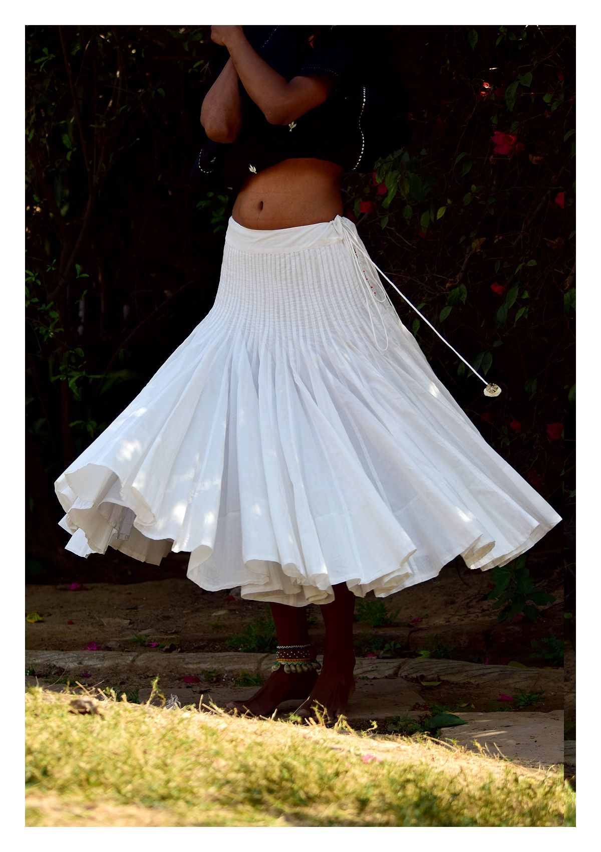 Lyric Black-White Kurta Skirt Set
