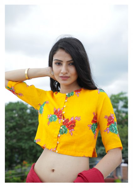 Dahlia Yellow Cheent Blouse