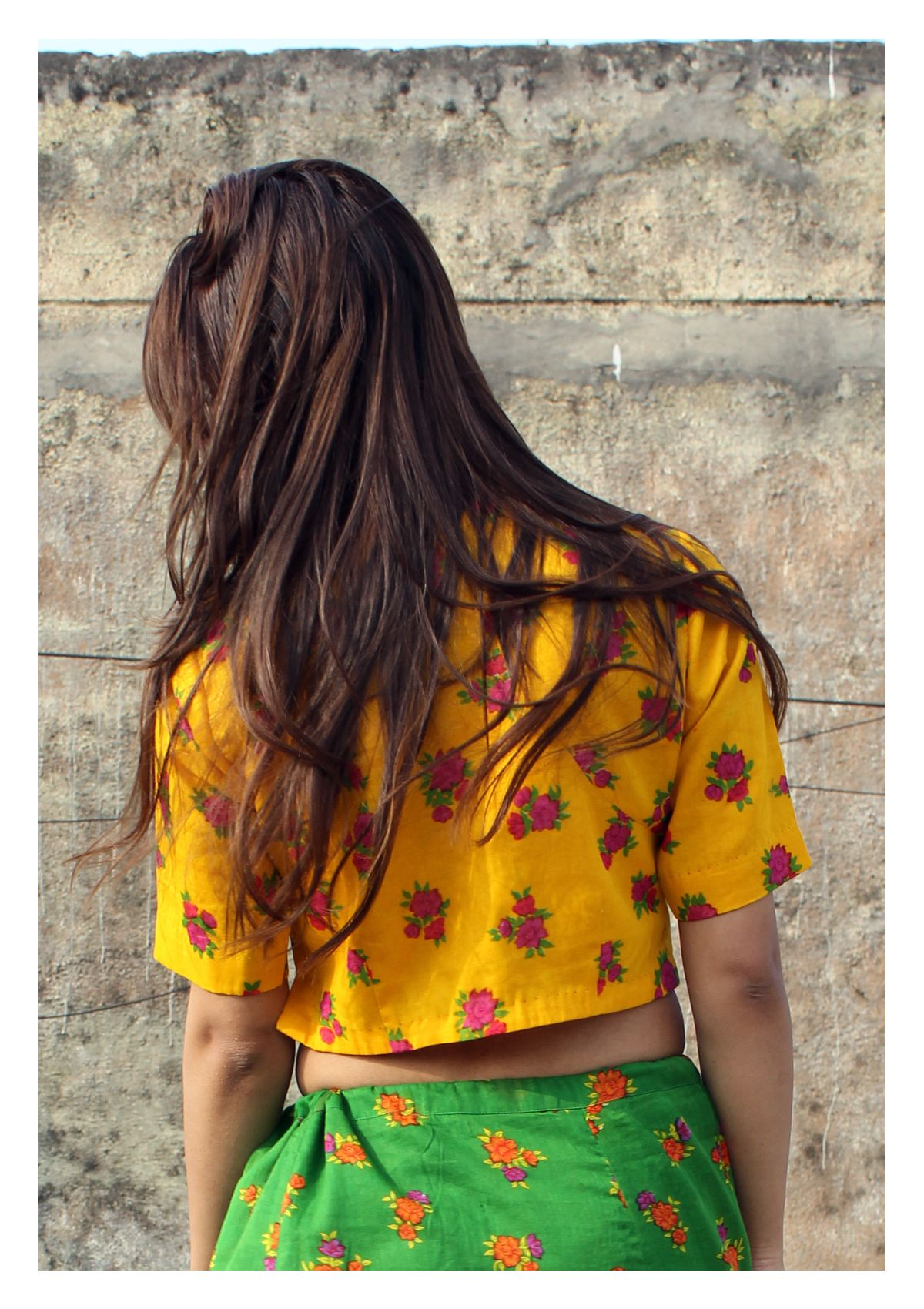 Rabbi Yellow Cotton Crop top